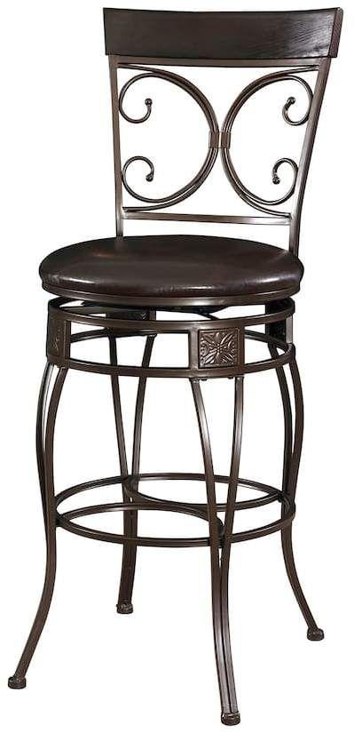 Powell Big and Tall Scroll Bar Chair