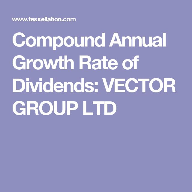 Compound Annual Growth Rate of Dividends: VECTOR GROUP LTD