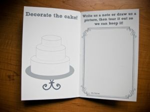 Kids' Table :  wedding decor reception 43 blog_activity_books_5. Love this activity book! Then need crayons, bubbles, and play dough for table fun :)
