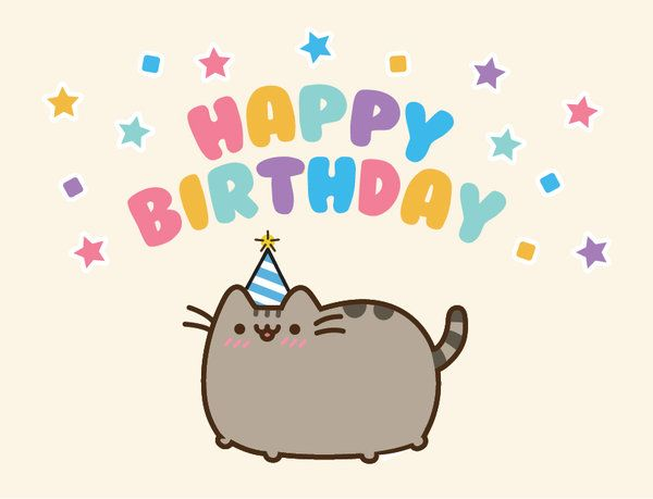 Pusheen Birthday Card by beccyboo-412.deviantart.com on @DeviantArt