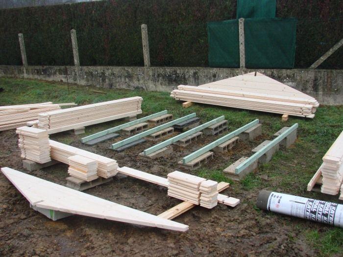 20 best Abri de jardin - Serre - Cabane en bois images on Pinterest - Montage D Un Garage En Bois