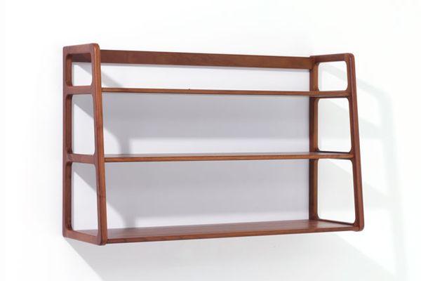 Agnes wall mounted shelves walnut