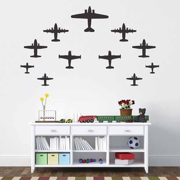Vinyl Wall Sticker Decal Art Airplanes By Urbanwalls On Etsy