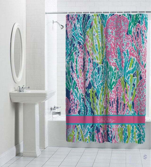 25 Best Ideas About Coral Shower Curtains On Pinterest Coral Bathroom Nav