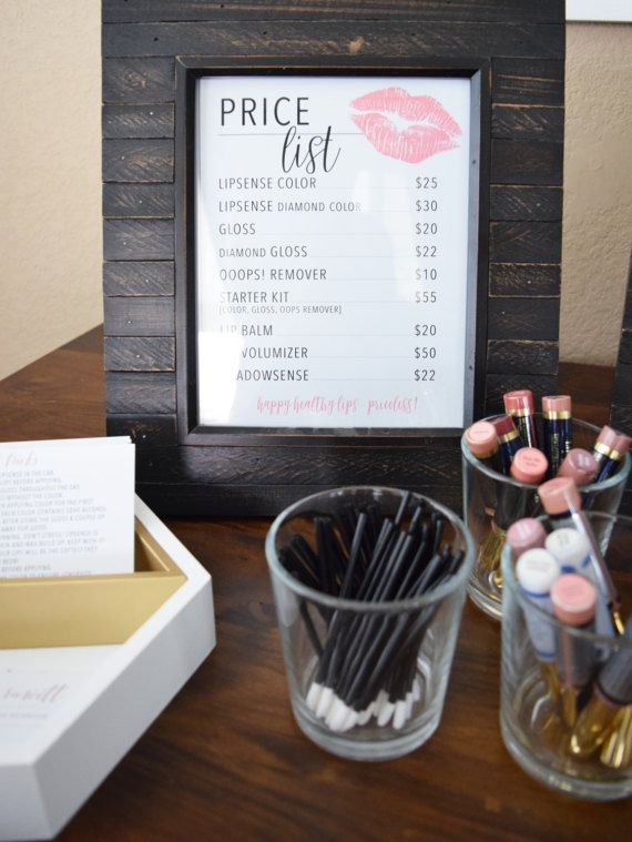 PARTY PACK Lips Price list Host Launch Party by CoralDesertDesign