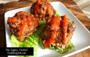 Mini Eggless Meatloaf