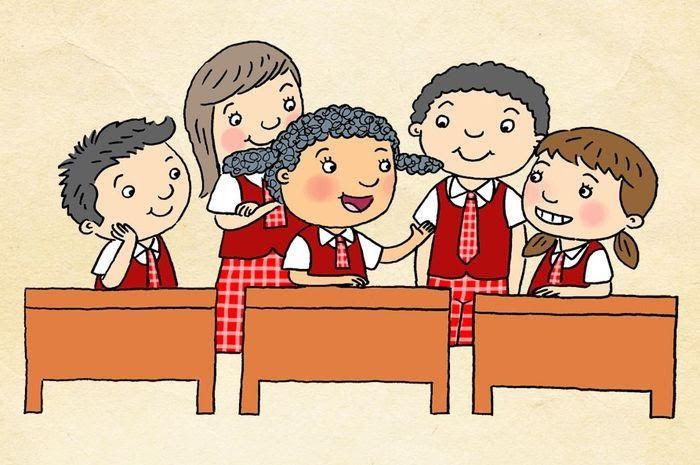 Gambar Kerjasama Di Sekolah Kartun 25 Gambar Kartun Bermain Di Lingkungan Sekolah Di 2020 Kartun