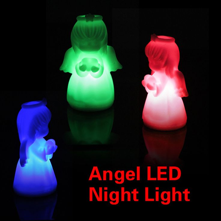 Romantis LED Colorful Mengubah Villain Lampu Malaikat Night Light Hemat Energi Lampu LED