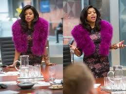 Cookie Lyon Costume Inspiration - Purple Fur Stole