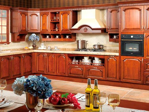 Captivating Kitchen Furniture   Kitchen Cabinet   OP14 123 Solid Wood Kitchen Cabinet  According To