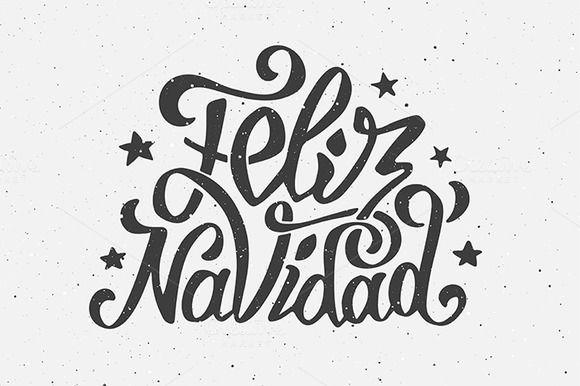 Feliz Navidad lettering by Yurlick on Creative Market