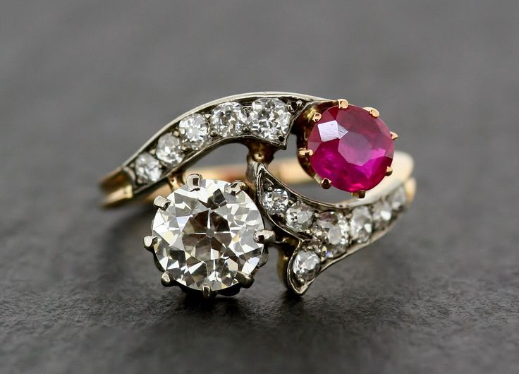 Antique Ruby & Diamond Ring - Edwardian 18ct and Platinum Ruby Engagement Ring by AlistirWoodTait on Etsy https://www.etsy.com/listing/164616500/antique-ruby-diamond-ring-edwardian-18ct