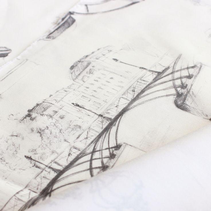 Paris scene fabric