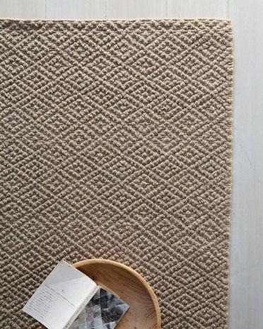 Eileen Fisher Bouclé Diamond Wool & Jute Rug
