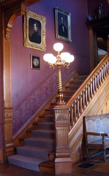 I love the baluster design! The mansion in Ausable Forks has a stairway with a light just this !!!  <3