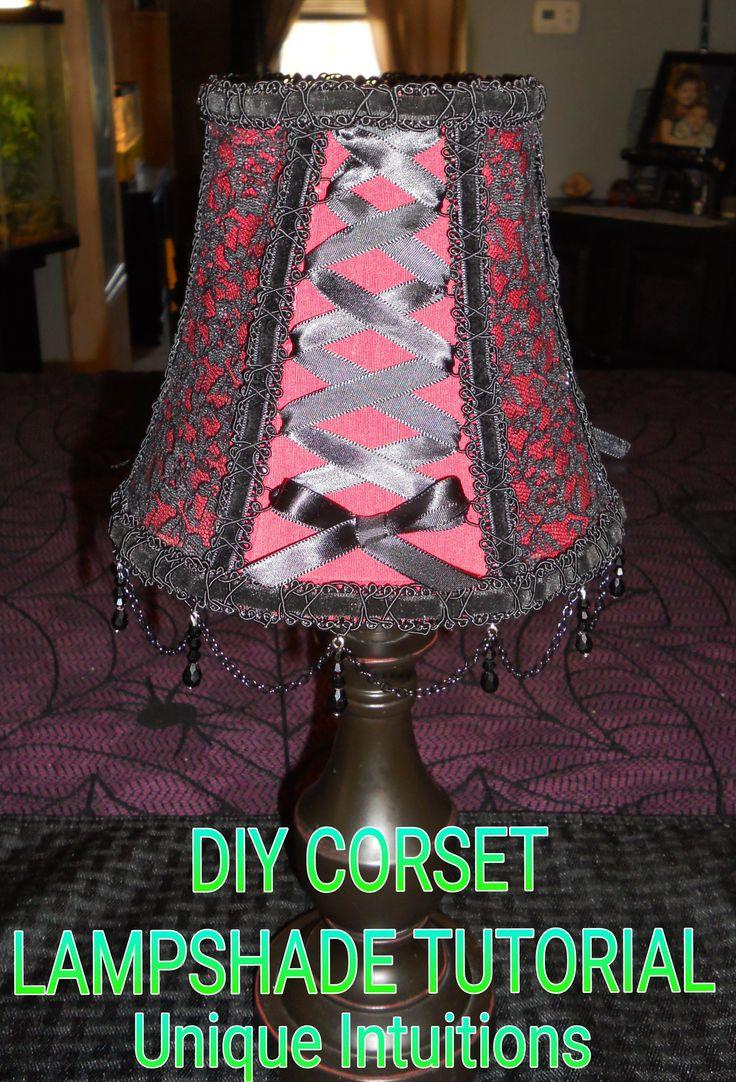 Diy Easy No Sew Corset Lampshade Tutorial Lampshade