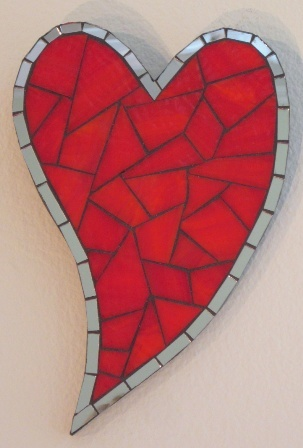Mosaic Heart in red!