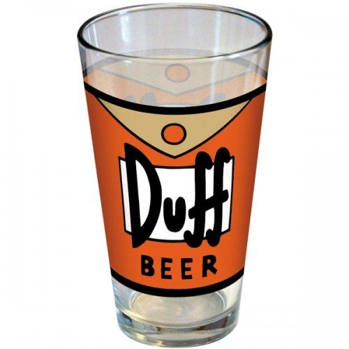 The Simpsons - Merchandise - Pint Glass (Duff Beer Logo) @ niftywarehouse.com #NiftyWarehouse #TV #Shows #TheSimpsons #Simpsons