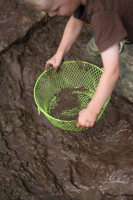Mud Prints: Animals, Feet and Handprints in a Homemade Mud Patch- Fun!