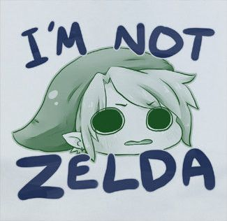 Custom Premium Legend of Zelda I'm Not Zelda Link Funny Nintendo Cute Shirt T-Shirt Tee merchandise gear poster dvd keychain figure soundtrack plush bag