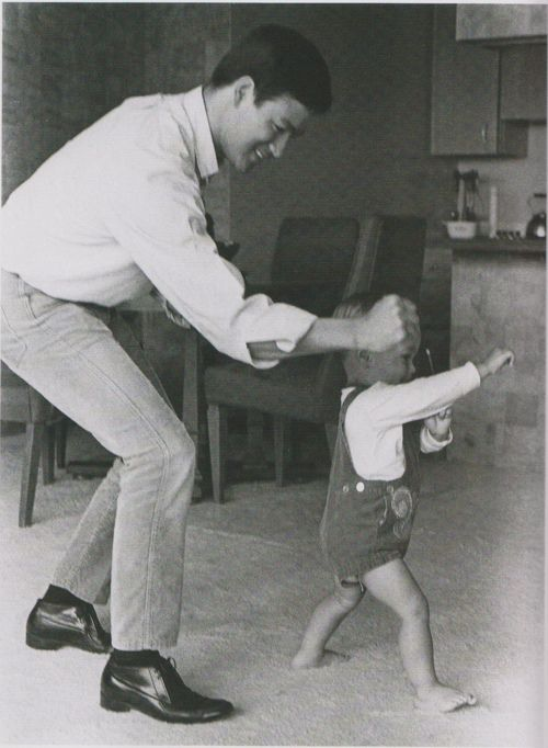 Bruce Lee & Brandon Lee....we are our children's models. Adopt a healthy lifestyle and your children will too. We know what we see.