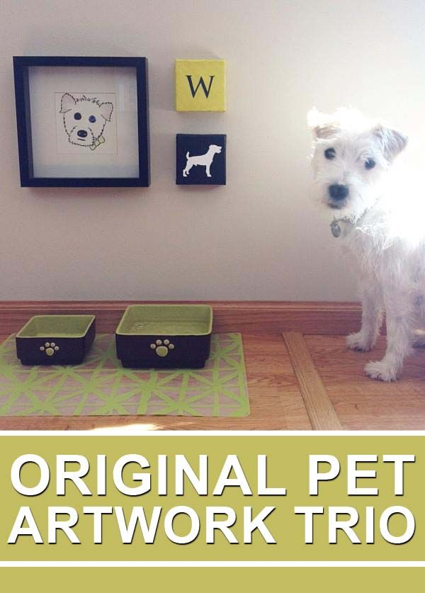 Because...why not? Custom artwork for your pet's 'dining room'. | Order on Etsy
