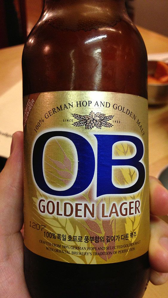 OB Golden Lager, Korean Beer @ K-town, Manhattan Winter 2012