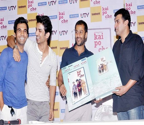 'Kai Po Che' DVD Launch - Sushant Singh Rajput, Raj Kumar Yadav, Siddharth Roy Kapur, Abhishek Kapoor
