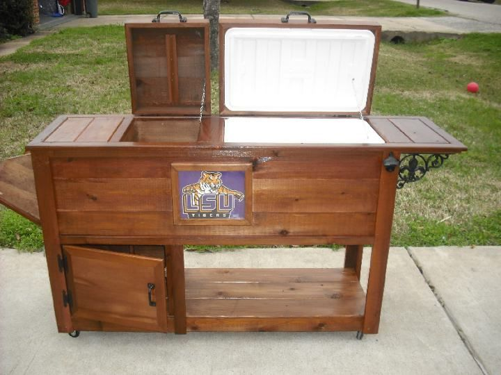 Wooden Ice Chests On Stands | Wooden Ice Chest Cooler Plans