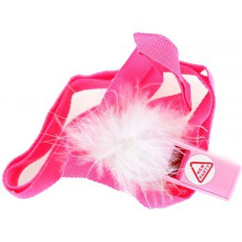 Hen Night Party Whistle On A Necklace. Make some noise on your hen party with this exciting pink whistle. These whistles make a great party gift bag filler and add a little bit of extra fun on your party.They have a bright necklace and fun white fluffy fur.