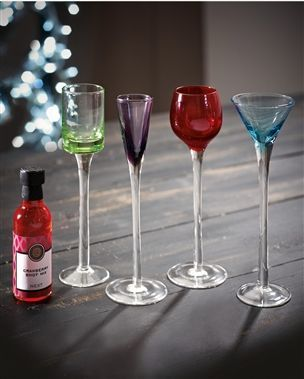 Set Of 4 Coloured Shot Glasses