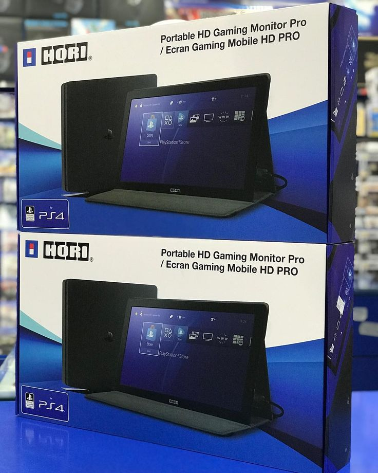 HORI - PORTABLE HD GAMING MONITOR PRO.  For PS4 ( Official Licensed Product). . HORI's new HD gaming monitor features ultra low-lag and a lightning fast refresh rate. This 15.6 inch LCD monitor is compatible with all consoles as well as PC. Featuring a premium leatherette built-in protector a slim profile and weight under three pounds this monitor fits inside most backpacks and computer bags. Gamers on the go and those looking for a portable second monitor for their laptop look no further…