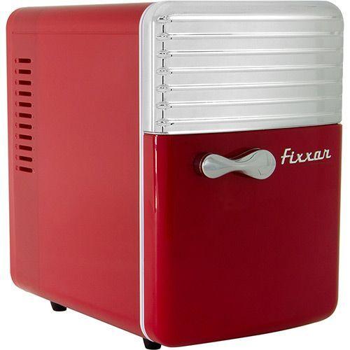 Mini Geladeira e Aquecedor Portátil 5 Litros Vermelha Retrô 12V Trivolt - Fixxar: