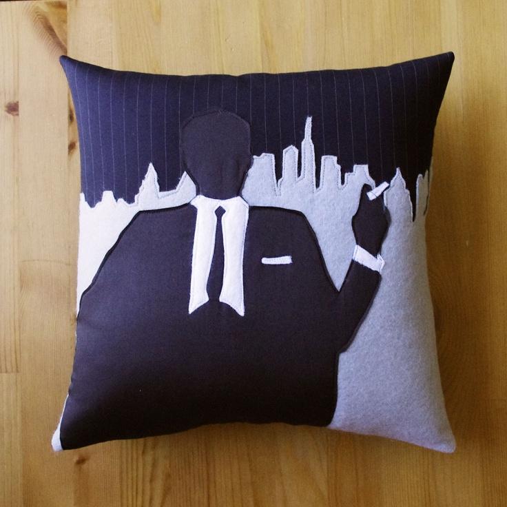Mad Mod Ad Man Decorative Pillow - Mad Men man cave decor