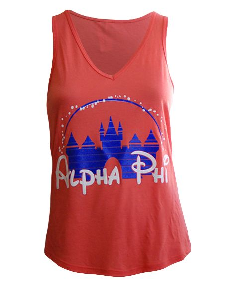Alpha Phi Disney Tank by Adam Block Design | Custom Greek Apparel & Sorority Clothes | www.adamblockdesign.com