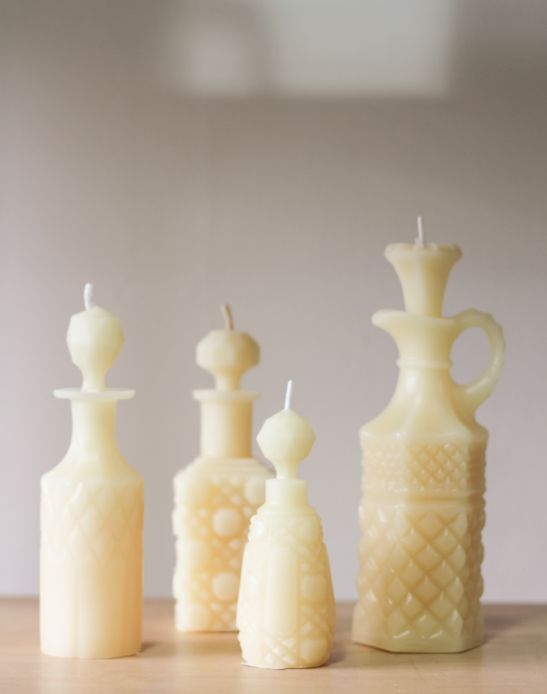 Morgan Haines moulded beeswax candles  Vessel.co.nz