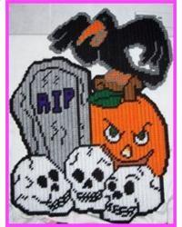 scary halloween httpwwweverythingplasticcanvascomscary halloween - Scary Halloween Crafts
