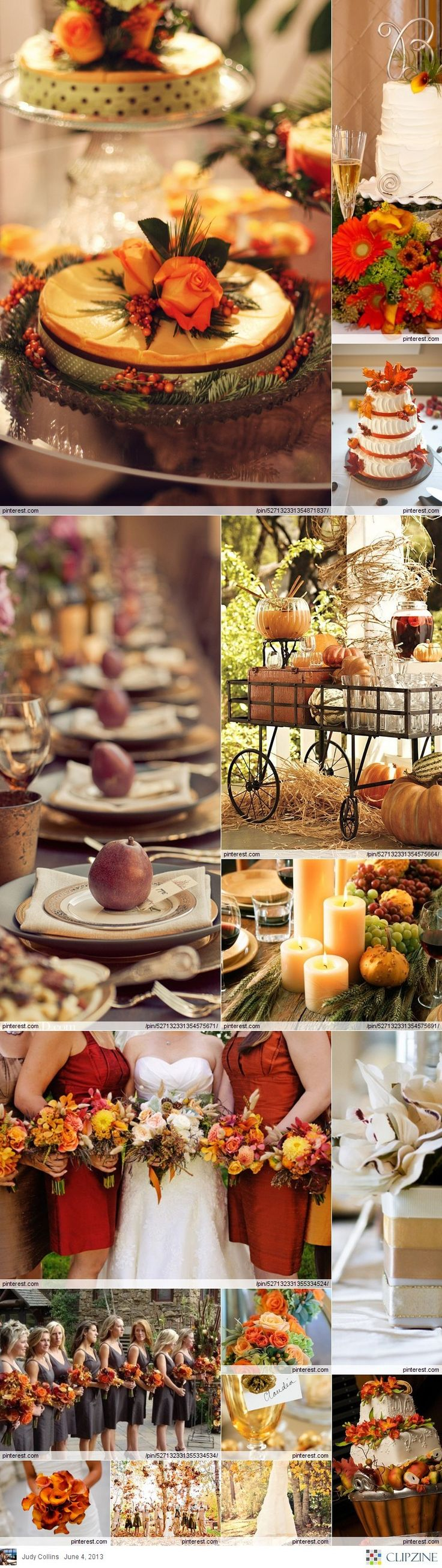 I have always wanted an autumn wedding. Maybe on our 20th anniversary in 4.5 years.