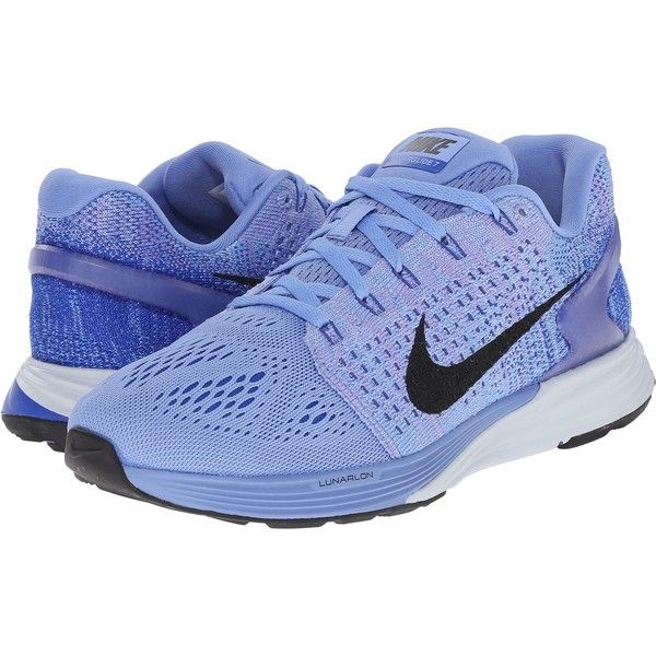 Nike Lunarglide 7 (Chalk Blue/Racer Blue/Blue Tint/Black) Women's... ($88) ❤ liked on Polyvore featuring shoes, athletic shoes, blue, blue athletic shoes, blue running shoes, nike footwear, lightweight shoes and breathable running shoes