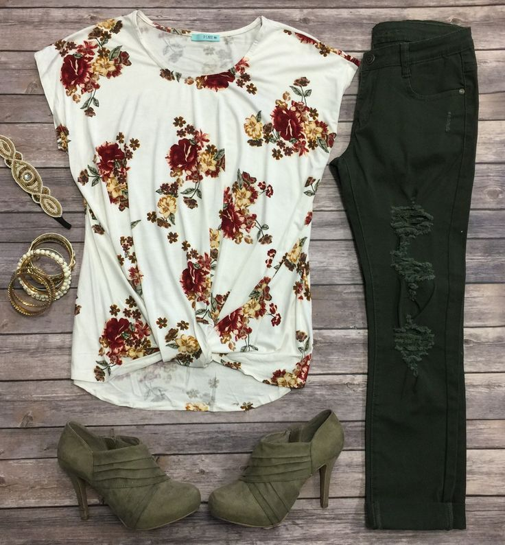 Floral Knotted Top: Ivory from privityboutique