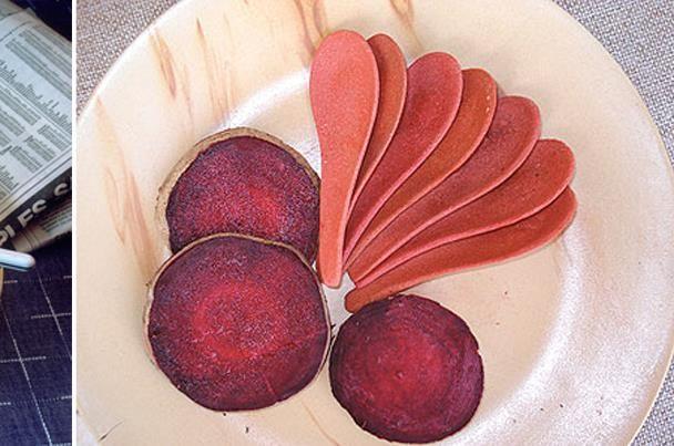 هندي يخترع أدوات مائدة تؤكل بعد تناول الطعام Food Peach Fruit