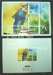 Minna Immonen graduation card: boy / Minna Immosen ylioppilaskortti: poika