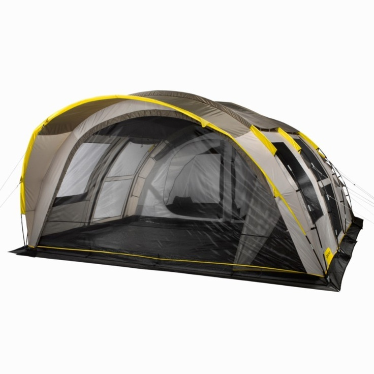 All Tents Camping - T6.2 XL Air, 6 Man Tent, Grey/Beige QUECHUA - Tents BROWN