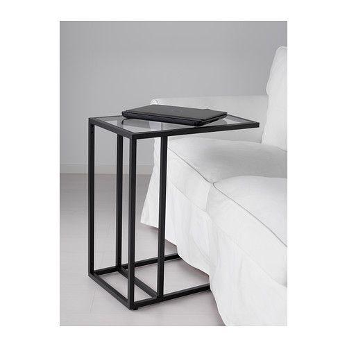 VITTSJÖ Laptopgestell IKEA Aus gehärtetem Glas und Metall, robusten Materialien für ein offenes, luftiges Erscheinungsbild.