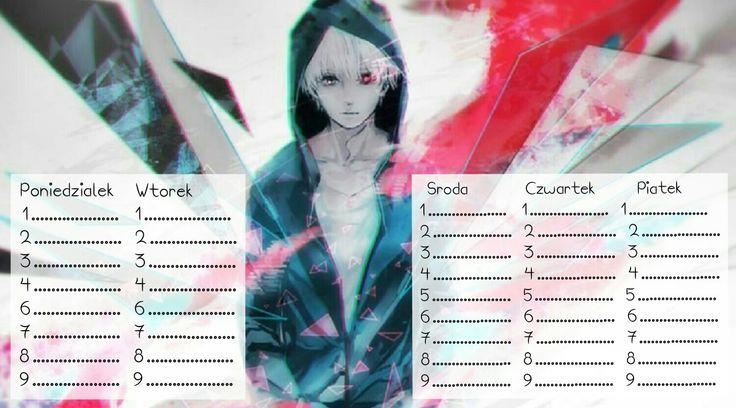 Plan lekcji - anime