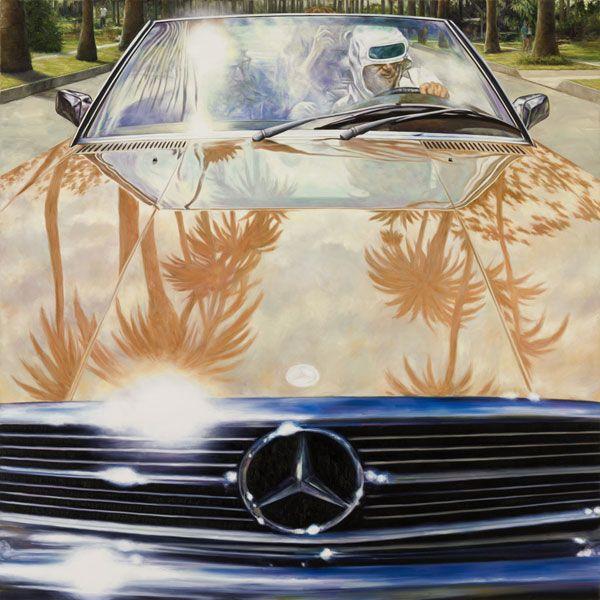 1974 Mercedes-Benz 450 SL (Annie Hall), 2011, oil on linen, 48 × 48 inches
