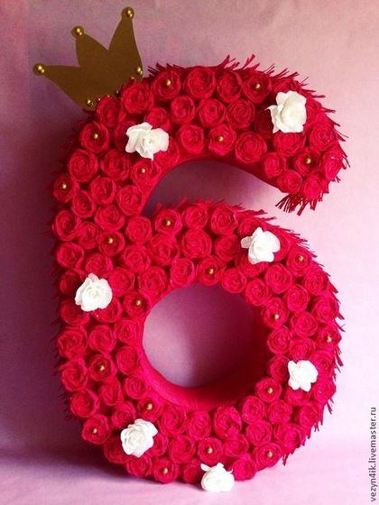 Праздничная атрибутика ручной работы. Ярмарка Мастеров - ручная работа. Купить Объемная цифра для детского дня рождения. Handmade. алиса