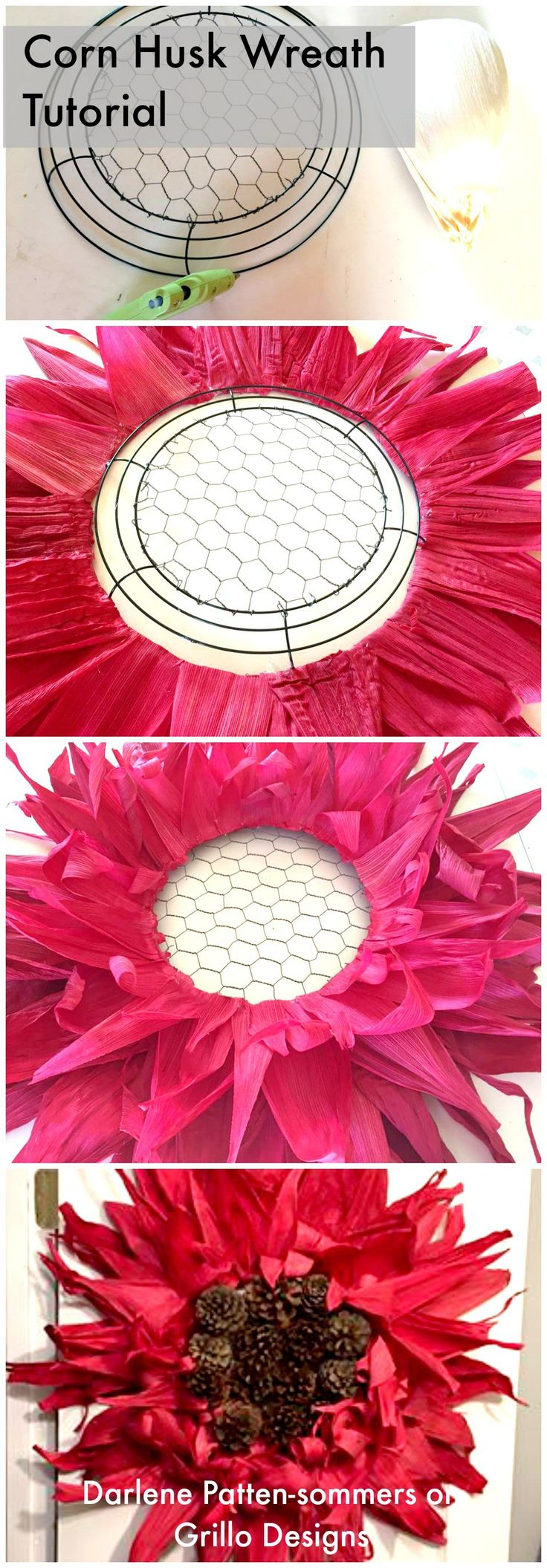 How to make a corn husk wreath!