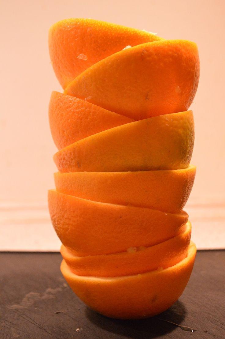Appelsinskraller - kandiseret appelsinskal