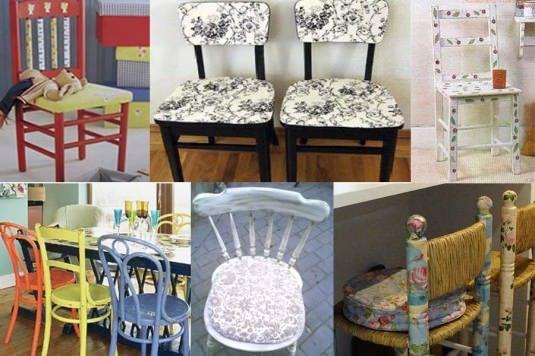 6 Ideas para recuperar unas sillas viejas